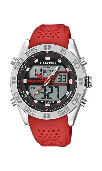8b925028fe47 Calypso Watches Reloj Analógico-Digital para Hombre de Cuarzo con Correa en  Plástico K5774 2  Amazon.es  Relojes