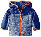 Rugged Bear Baby-Boys Newborn Light Reversible Space Dye Jacket, Blue, 3-6 Months