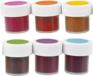 TruColor 6-Color Vegetable Food Coloring Powder Set - Natural Gel Paste Powder