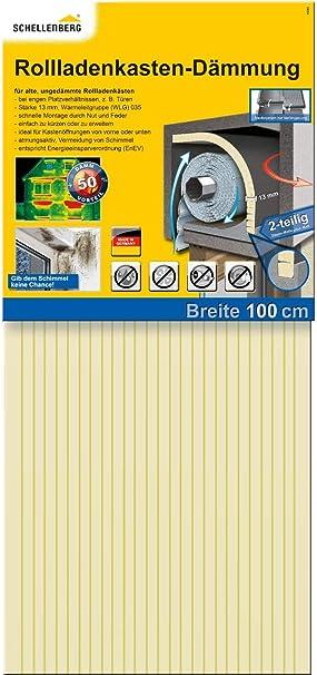 Schellenberg 66280 2 piezas con 13 mm de grosor – 100 x 50 cm, aislamiento de persianas, 100x50cm/13mm: Amazon.es: Bricolaje y herramientas