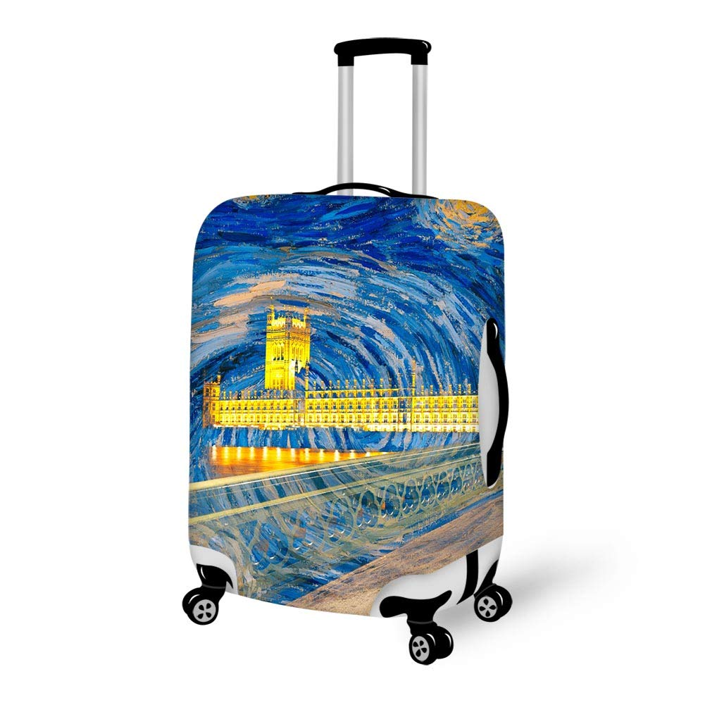 Luggage Cover England Road Uk City Starry Sky Protective Travel Trunk Case Elastic Luggage Suitcase Protector Cover