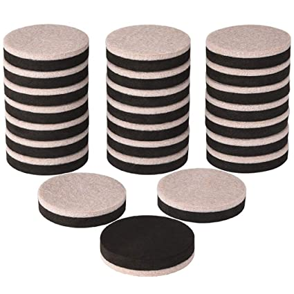 24 Pieces Furniture Sliders 2 Inch Round Felt Furniture Slider