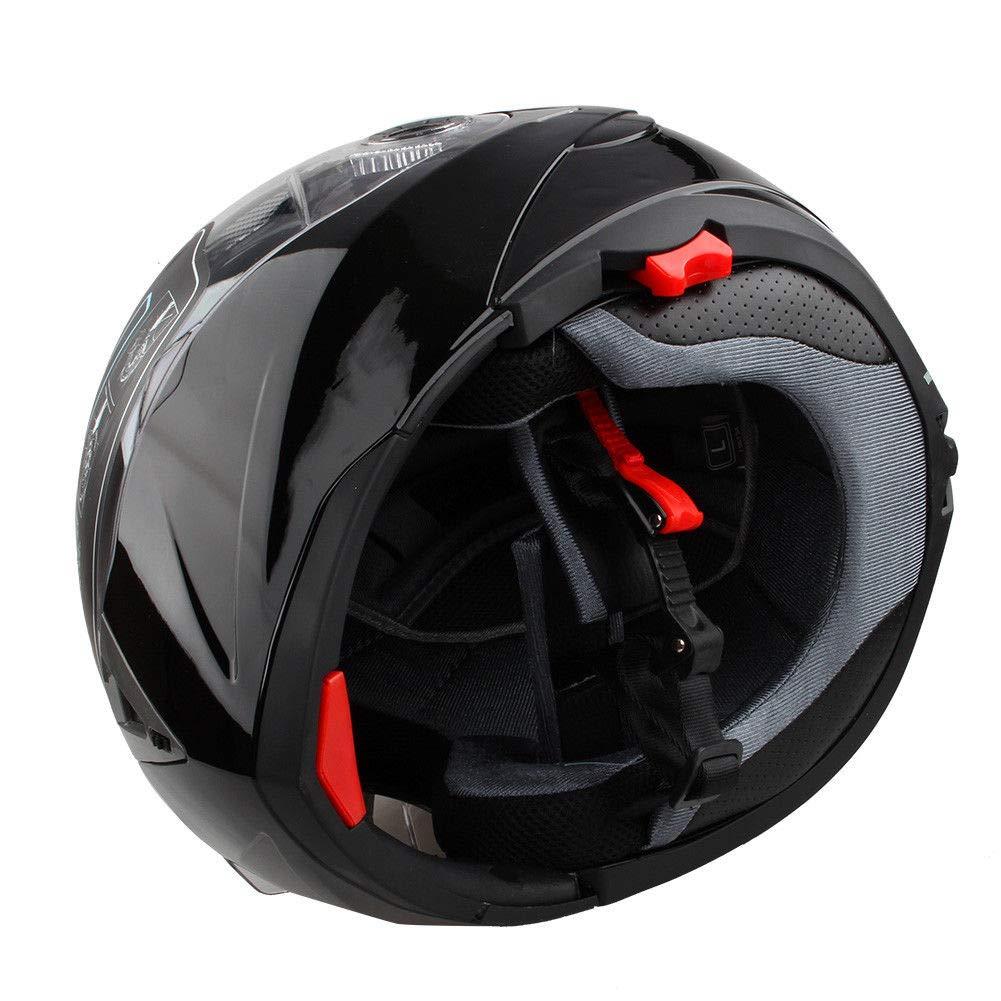 Estink Casco de moto aprobado por DOT casco integral de moto con parasol