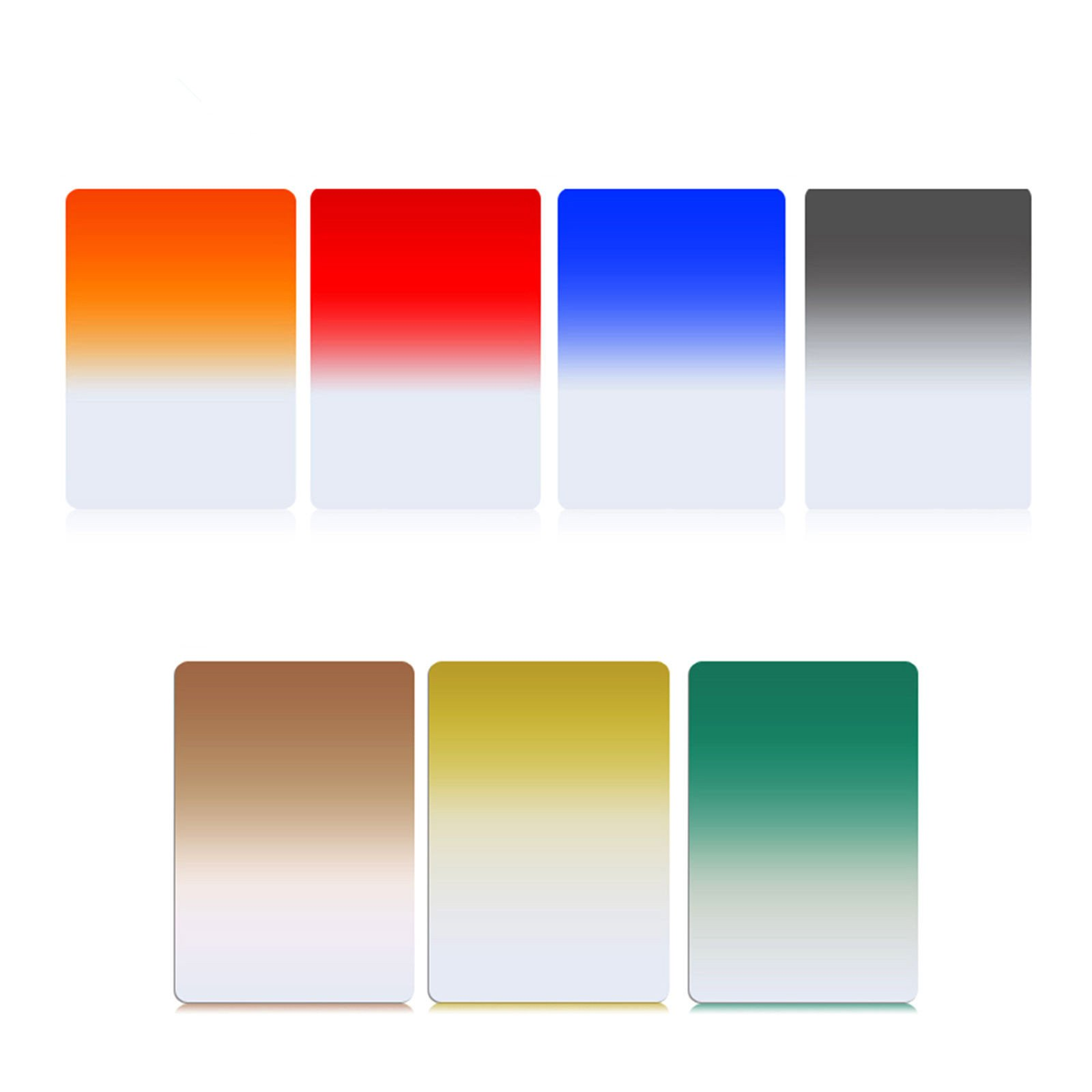 ZOMEI 150mm x 100mm Graduated Square Filters 7 Colors Filter Kit for Cokin Z Series