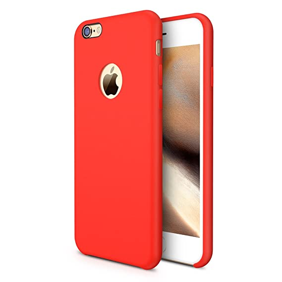 check out 89447 228fc TORRAS [Love Series] iPhone 6S Case/iPhone 6 Case, Liquid Silicone Rubber  Shockproof Case with Soft Microfiber Cloth Cushion Compatible with iPhone 6  ...