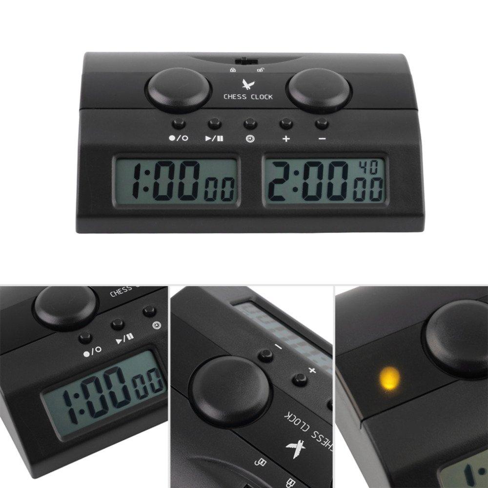 CHSEEA Reloj Digital de ajedrez Temporizador de Junta Juego Cuenta hasta Down Competición Reloj Game Timer Despertador para niños 2: Amazon.es: Juguetes y ...