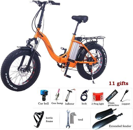 Zhixing Plegable Bicicleta Eléctrica City Montaña Unisex Adulto 20 ...
