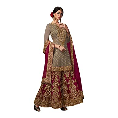 bd30f9a9d03 Amazon.com  Bollywood Party Wear Sharara Palazzo Salwar Kameez Pant Custom  to Measure Indian Ethnic wear 2723  Clothing