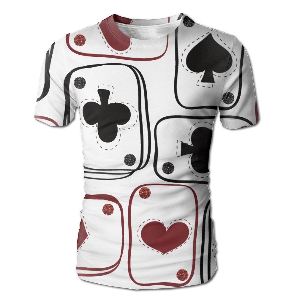 XIA WUEY Texas Poker Cards MensClassic Baseball Tshirt Graphic Tees Tops For Sports