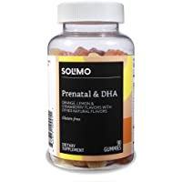 Amazon Brand - Solimo Prenatal Vitamins & DHA, 90 Gummies, 45-Day Supply