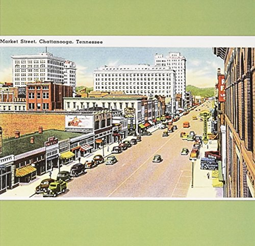 Street Scene Antique (3dRose Greeting Cards, 6 x 6 Inches, Tennessee, Market Street Scene with Antique Cars (gc_170623_1))