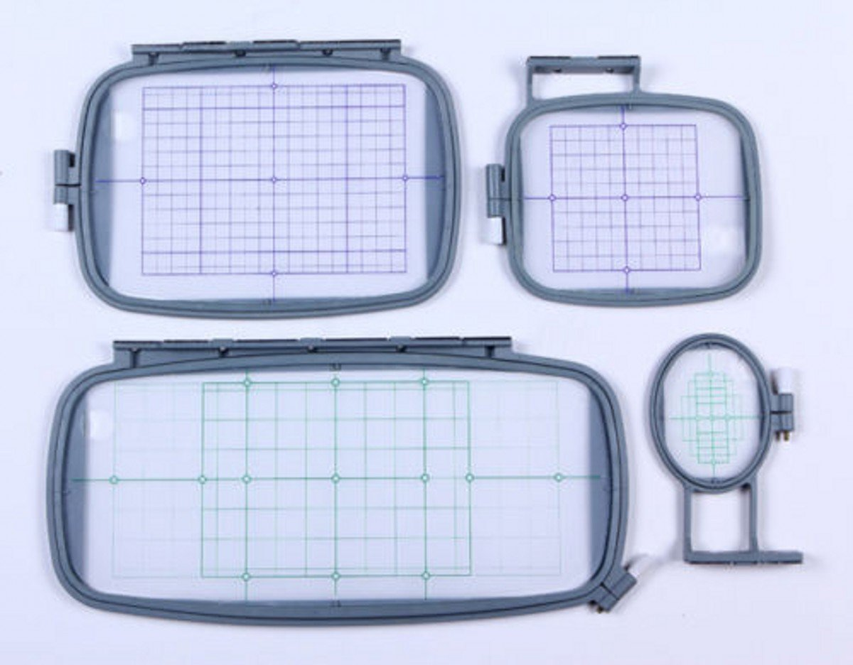 WellieSTR 4-Piece Embroidery Hoop Set for Brother PE770 PE700 PE700II Machine - PE-770