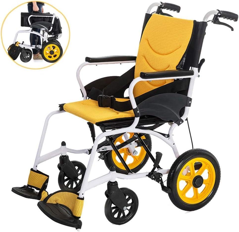 YPYJ Ancianos y discapacitados con Silla de Ruedas portátil con Doble Amortiguador de aleación de Aluminio de Gama Alta Ligera operadora móviles con Silla de Ruedas