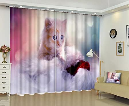 3d cats blackout curtainschildrens room living room bedroom window drapes wide 36x - Cat Curtains