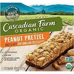 Cascadian Farm Organic Sweet and Salty Chewy Granola Bar Peanut Pretzel 5 - 1.2 oz Bars