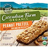 Cascadian Farm Organic Peanut Pretzel Granola Bars, 13.25 Ounce (Pack of 12)
