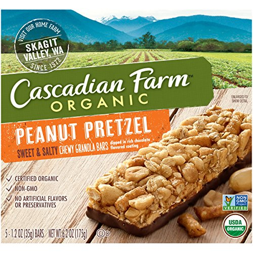Cascadian Farm Organic Peanut Pretzel Granola Bars, 13.25 Ounce (Pack of 12) by Cascadian Farm