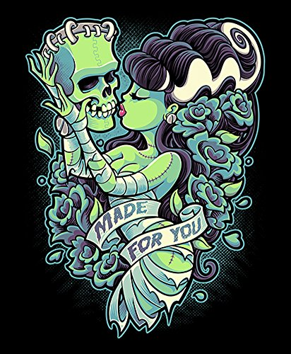 Made For You by Jehsee Bride of Frankenstein Monster Halloween Canvas Art Print