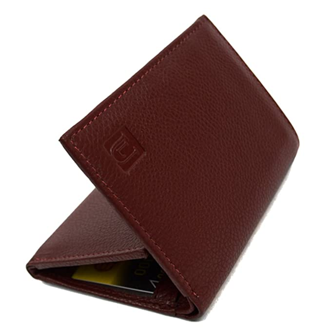 342c011f68fc3 Leather RFID Blocking Protection Tri-Fold Trifold Wallet (Dark Brown) at Amazon  Men s Clothing store