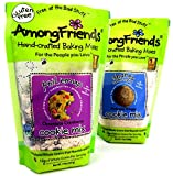 Among Friends Gluten Free Baking Mixes 2-Flavor Variety: One 14 oz Bag of Phil Em Up Chocolate Cranberry Cookie Mix and One 12 oz Bag of Shanes Sweet-N-Spicy Molasses Ginger Cookie Mix in a Gift Box