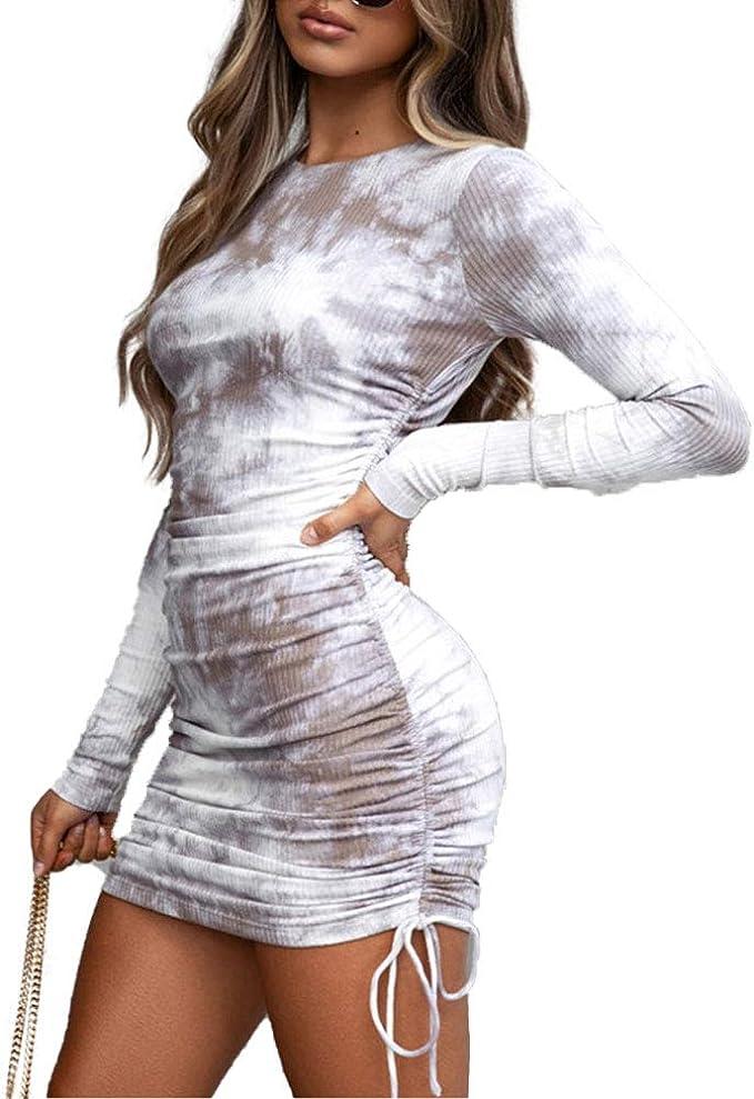 Loalirando Vestido de mujer de manga larga, elegante y sexy para cóctel, fiesta, ceremonia, invierno, otoño