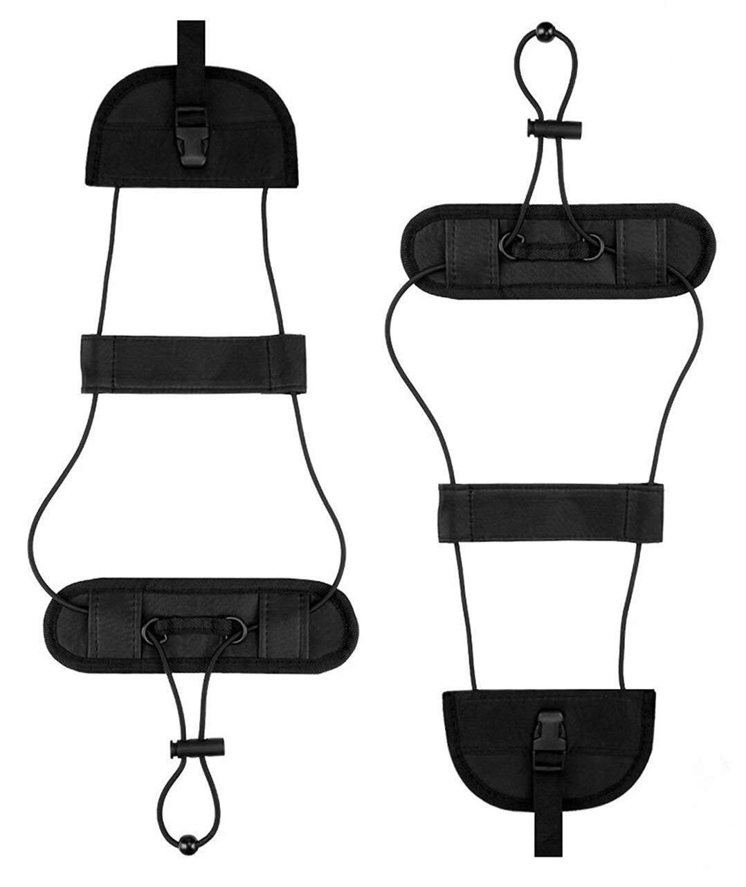 Luggage Straps Bag Bungee Lightweight and Durable Elastic Strap for Extra Luggage Adjustable Belt Travel Accessories 3 Pack Luggage Bungee Strap Add a Bag Black