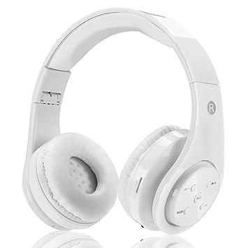 Auricular sin hilos para los cabritos adultos recargable plegable sobre los auriculares del bluetooth del oído