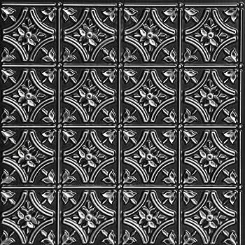Amazon Com Antyx Black 24x24 Pvc Ceiling Tile Home