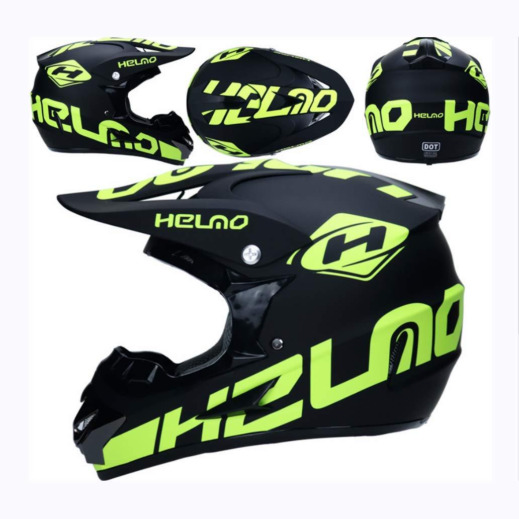 A petit YYCC-helmet Personnalité du Casque Complet de Moto électrique Personnalité Cool Casque de Prougeection Solaire de Prougeection complète Casque de Sports extrêmes,A,XL