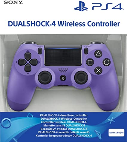 Sony - Dualshock 4 Controller Electric Purple (PS 4): Sony: Amazon ...