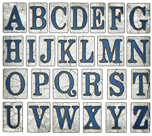 New Orleans, Louisiana - Vintage Street Tiles Alphabet Collection - Illustration A-95726 95726 (12x18 SIGNED Print Master Art Print w/Certificate of Authenticity - Wall Decor Travel Poster)