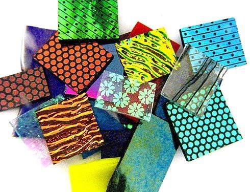 oz COE 90 Dichroic /& Fancy Sheet Mix Devardi Glass Handmade 4 Fusible
