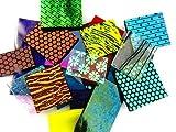 Devardi Glass COE 90 Dichroic, Iridized & Textured 4 oz Glass Sheet Mix - 1/4 lb