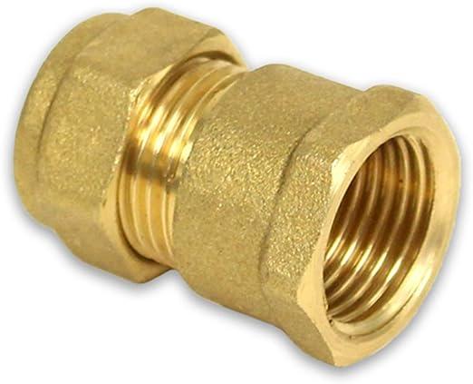 Messing Klemmverschraubung Winkel 22 mm x 3//4 Zoll IG für Kupferrohre