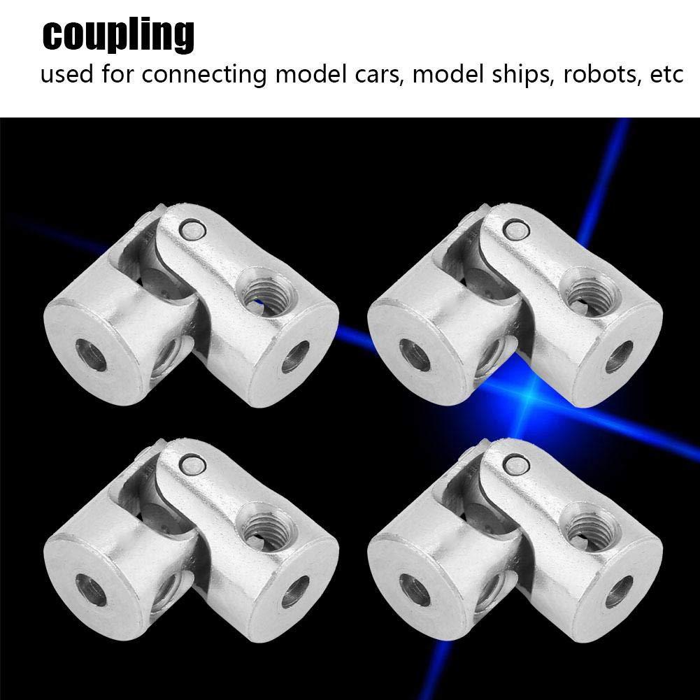 Fevas Professional 4pcs Shaft Coupling Motor Connector DIY Steering Length 18mm OD 8mm Universal Joint New 2019 Inner Diameter: 2x2mm