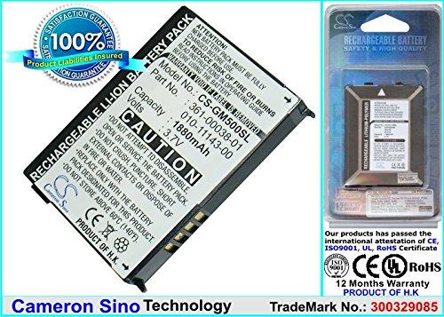 Replacement 010-11143-00, 361-00038-01 Battery for Garmin Nuvi 500, Nuvi 510, Nuvi 550, Zumo 220, Zumo 600, Zumo 650, Zumo 660, Zumo 660LM , Aera 500, Aera 550 GPS Units