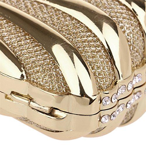 Party Clutch Shoulder Bags Chain Wedding Metal Handbag Dress Evening Silver Women PcFWRc