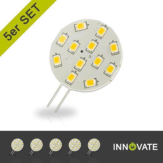 4er Pack ersetzt 20W Gl/ühlampe GU4 Stiftsockel 12V DC SEBSON LED Lampe G4 warmwei/ß 3W Leuchtmittel 110/° 200lm 2.5W