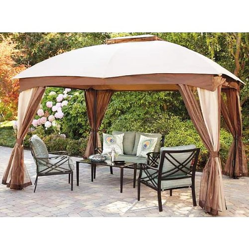 Garden Winds Thompson Gazebo Replacement Canopy Top Cover
