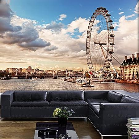 Huangyahui London Ferris Wheel 3d Murals Living Room Background