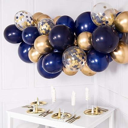 Amazon.com: Globos de fiesta azul marino, 50 unidades, 12 ...
