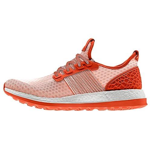 adidas Men s Pureboost ZG M Running Shoe, Collegiate Orange Light Grey, ... 94a7a8b66c82