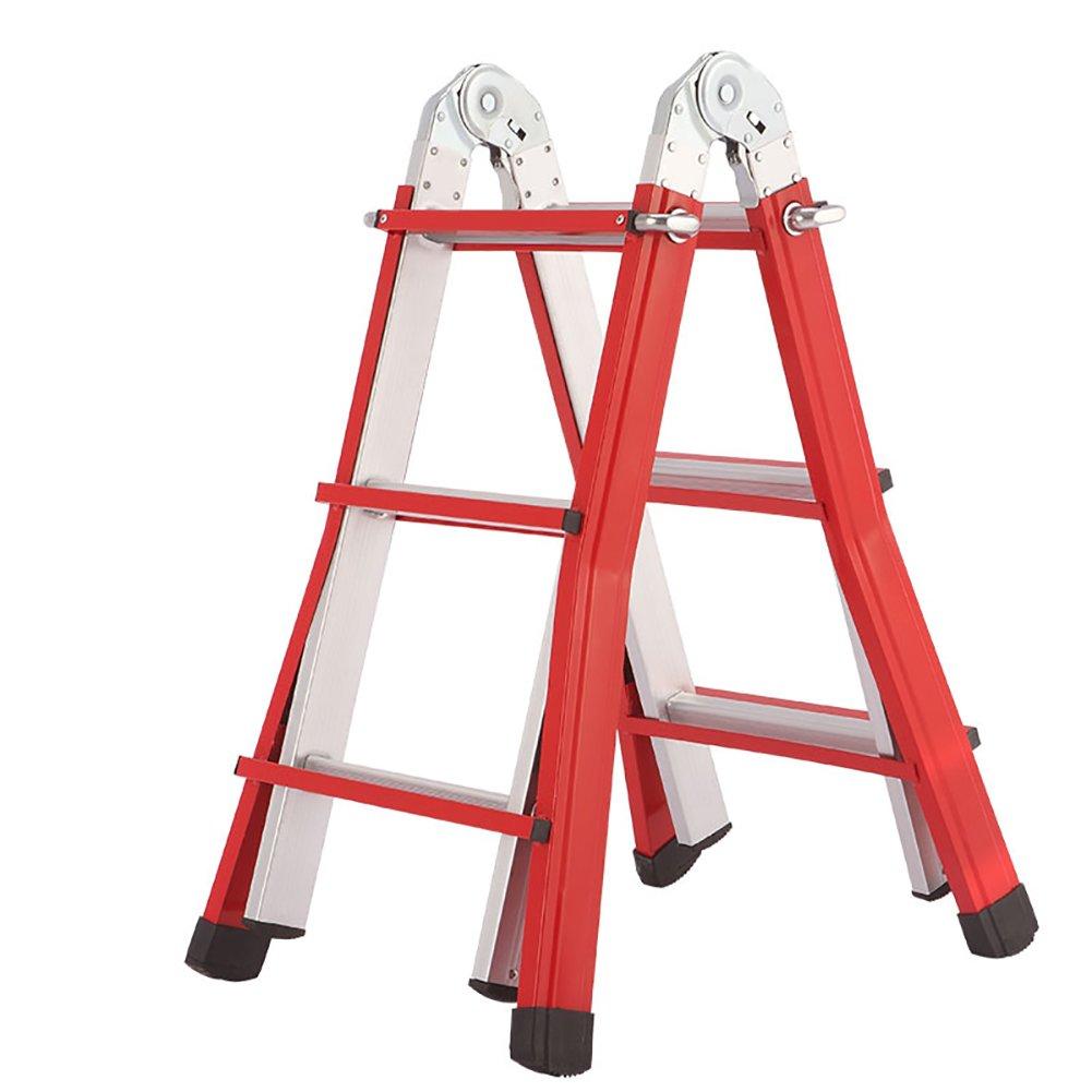 YD-Step stool Outdoor Aluminium Step Stool Adjustable Height Folding Telescopic Ladder Adults /&