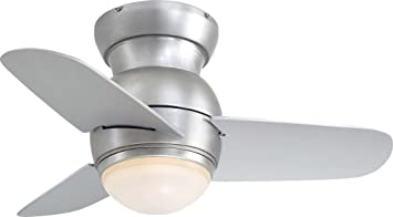 Minka aire f510 bs spacesaver 26 ceiling fan brushed steel minka aire f510 bs spacesaver 26 quot ceiling fan brushed aloadofball Choice Image