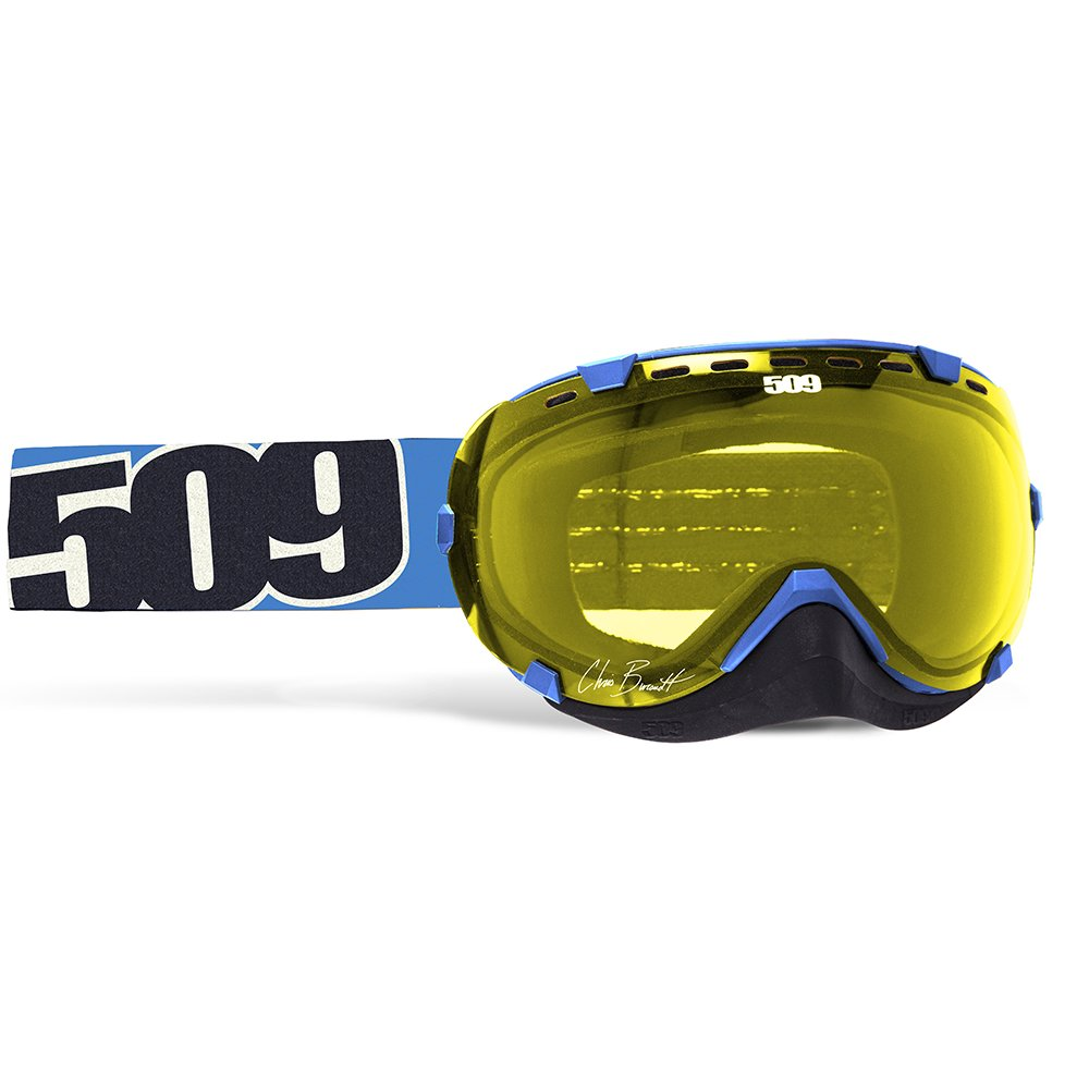 509 Aviator Snow Snowmobile Goggles - Chris Burandt Signature - Yellow Tint Lens by 509