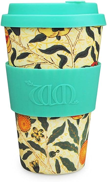 Hold up to Large 14 Geometry Blue Reusable Coffee Cup Sleeve for hot and Cold Drink Standard Size