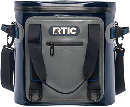 RTIC Soft Pack 30 Insulated Cooler Bag Plus Ice Leakproof Foam Bag-Tan