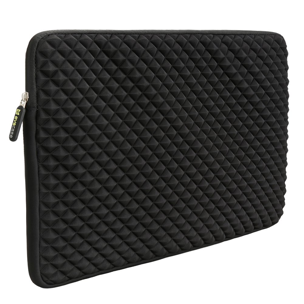 12.9 - 13.3 Inch Laptop/Tablet Sleeve Evecase Diamond Foam Splash Shock Resistant Neoprene Sleeve Bag for for Notebook Chromebook, Ultrabook, Macbook Pro/Air 13.3 / iPad Pro 12.9 Tablet - Black