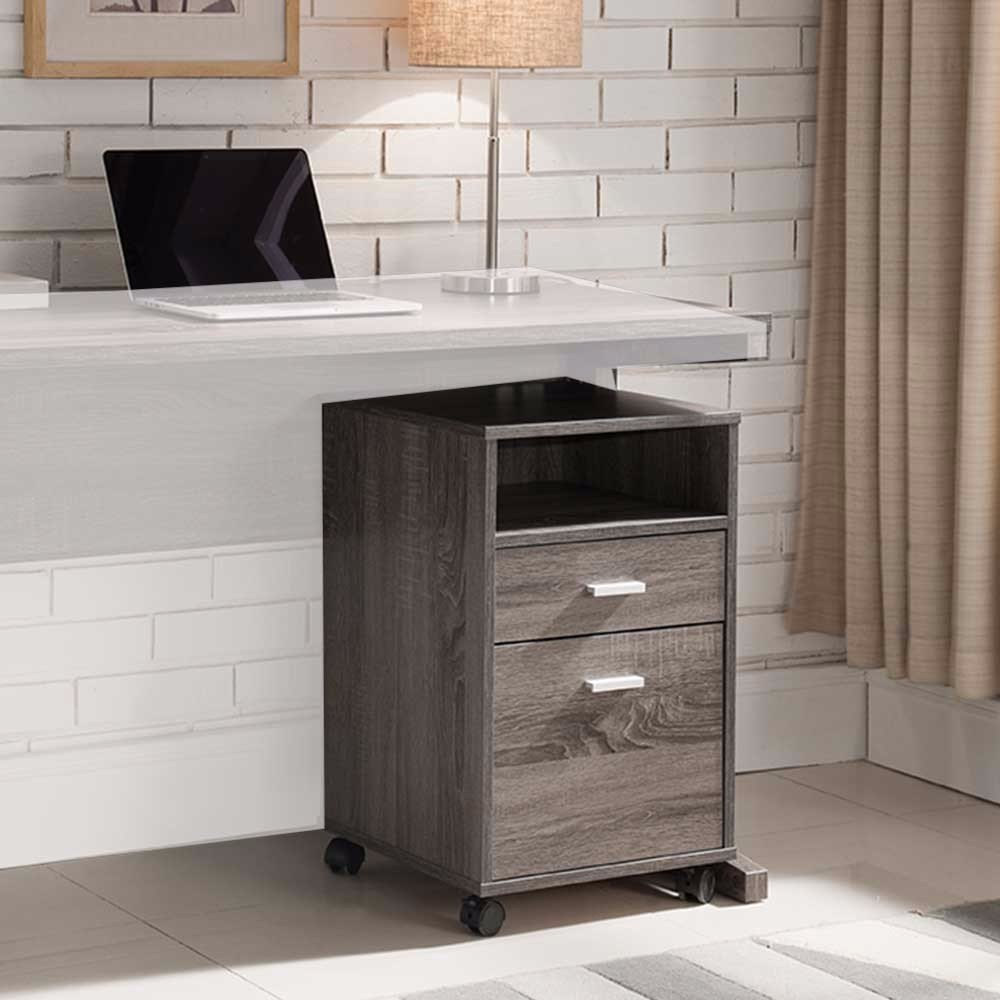 Benzara BM148856 File Cabinet On Wheels with One Shelf