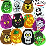 Toys : Spooktacular Creations Pack of 72 Halloween Drawstring Goody Bags for Halloween Treats, Halloween Party Favors, Halloween Party Supplies